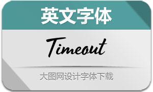 Timeout系列四款英文字体