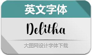 Delitha系列三款英文字体