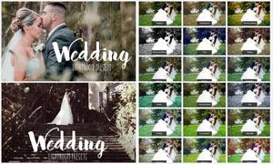 25款婚礼照片后期艺术调色LR预设