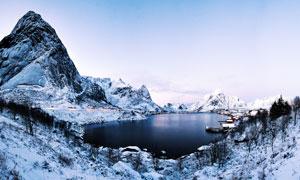 冰雪天气湖光山色风景摄影高清图片