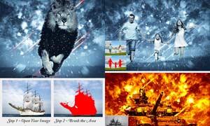 中文版照片添加风暴特效PS动作