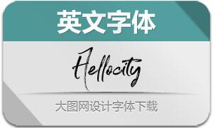 Hellocity系列5款英文字体