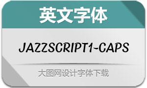 JazzScript1-Caps(英文字体)