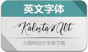 KalistaAlt(英文字体)