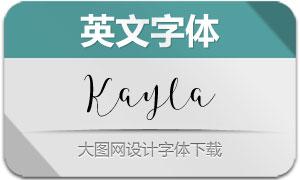 Kayla(英文字体)