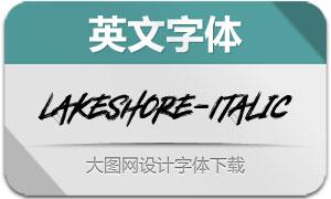 Lakeshore-Italic(英文字体)