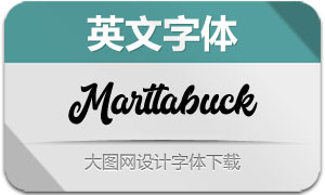 Marttabuck(英文字体)