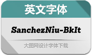 SanchezNiu-BlackIt(英文字体)