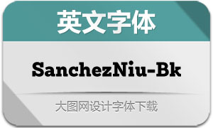 SanchezNiu-Black(英文字体)