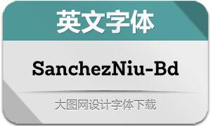 SanchezNiu-Bold(英文字体)
