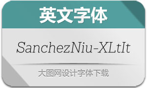 SanchezNiu-ExtraLightIt(英文字体)
