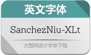 SanchezNiu-ExtraLight(英文字体)