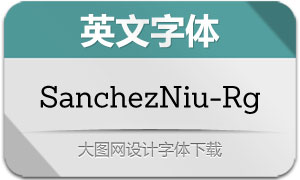SanchezNiu-Regular(英文字体)