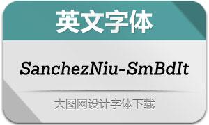 SanchezNiu-SemiBoldIt(英文字体)
