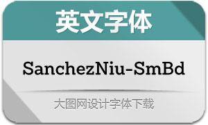 SanchezNiu-SemiBold(英文字体)