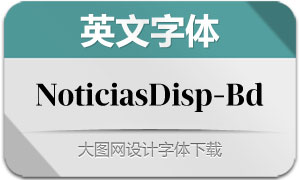 NoticiasDisplay-Bold(英文字体)