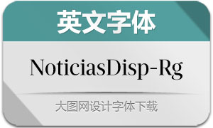 NoticiasDisplay-Regular(英文字体)