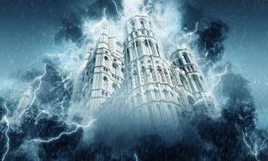 照片添加震撼的风暴特效PS动作