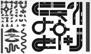 各种道路桥梁组合元素设计矢量素材
