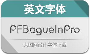PFBagueInlinePro系列4款英文字体