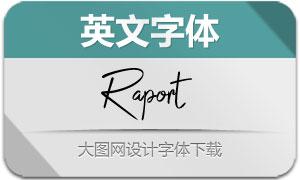 Raport系列3款英文字体