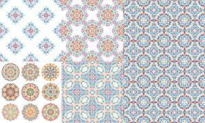 四方连续精美花纹图案背景矢量图V2