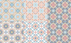 四方连续精美花纹图案背景矢量图V3