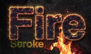 超酷的火焰艺术字设计PS动作