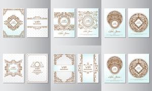 会员卡花纹装饰图案设计矢量素材V2