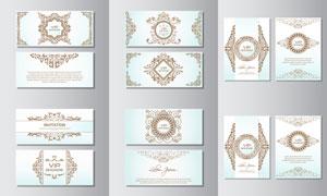 会员卡花纹装饰图案设计矢量素材V3