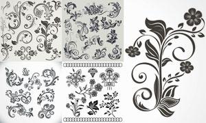 复古怀旧风格花纹装饰图案矢量素材