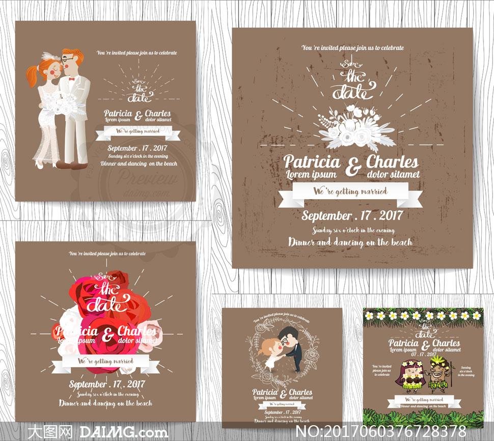 压缩包已封装预览图片; 关 键 词: 矢量素材矢量图设计素材结婚婚礼图片