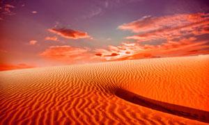 天空瑰丽云彩沙漠风光摄影高清图片