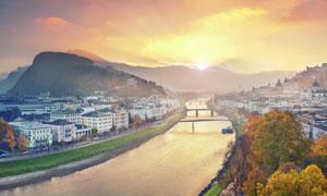 奥地利萨尔茨堡州风光摄影高清图片