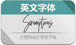 Scrumptious系列三款英文字体