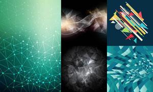 立体几何元素背景创意设计矢量素材