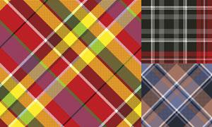 五彩纺织纹理背景图案矢量素材集V1