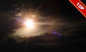 空中的耀眼阳光图层叠加高清图片V1