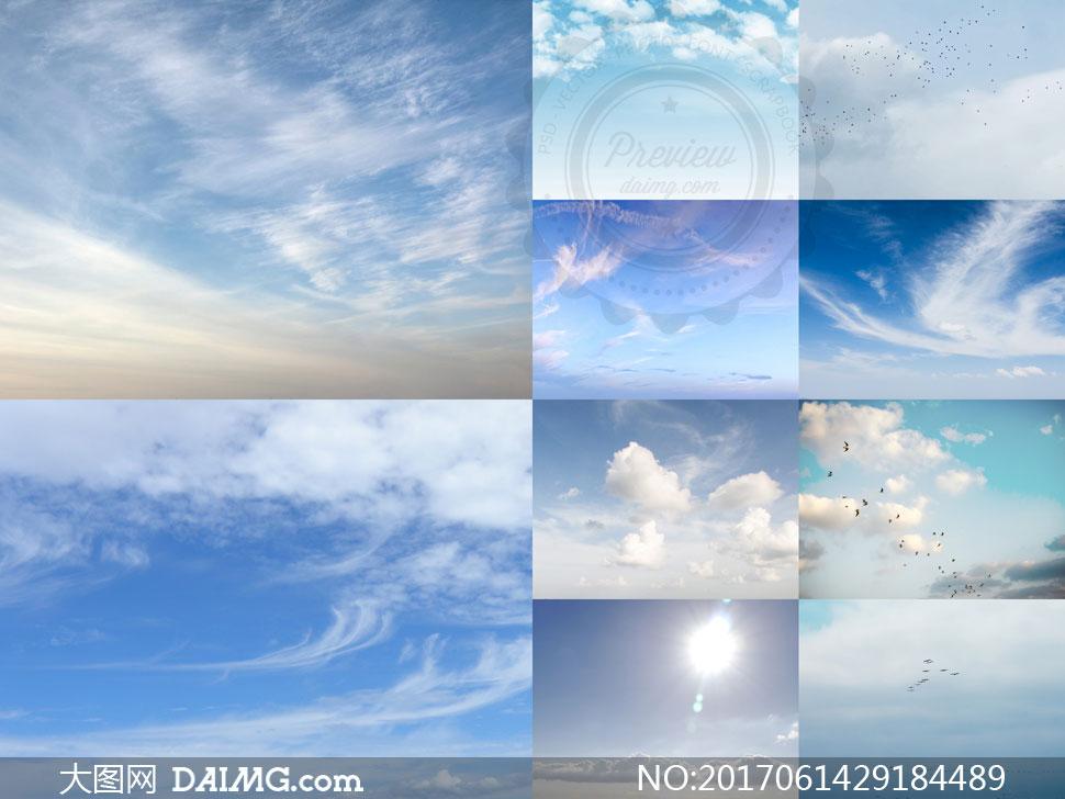 藍天白云自然風景主題高清圖片集v2