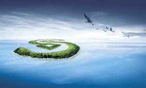 创意海岛背景图设计PSD源文件