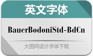 BauerBodoniStd-BoldCond(字体)