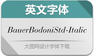 BauerBodoniStd-Italic(英文字体)