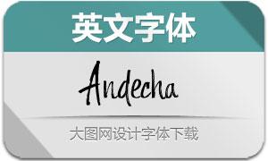 Andecha(英文字体)