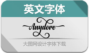 Anydore-Regular(英文字体)