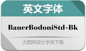 BauerBodoniStd-Black(英文字体)