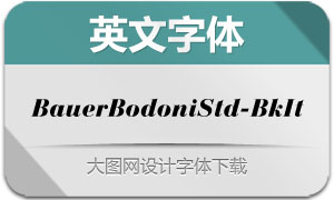 BauerBodoniStd2-BlackIt(字体)