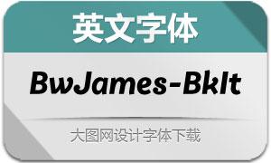 BwJames-BlackItalic(英文字体)