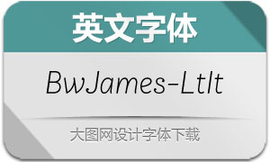 BwJames-LightItalic(英文字体)