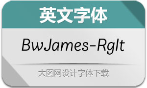 BwJames-RegularItalic(英文字体)