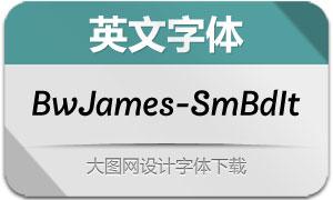BwJames-SemiBoldItalic(字体)